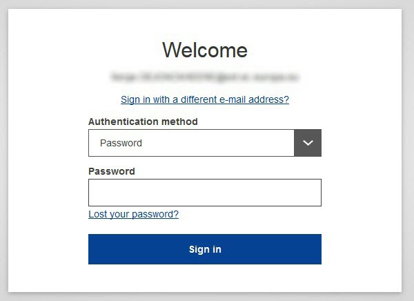How to login on EU Login?