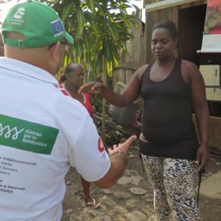 Photograph showing project beneficiary