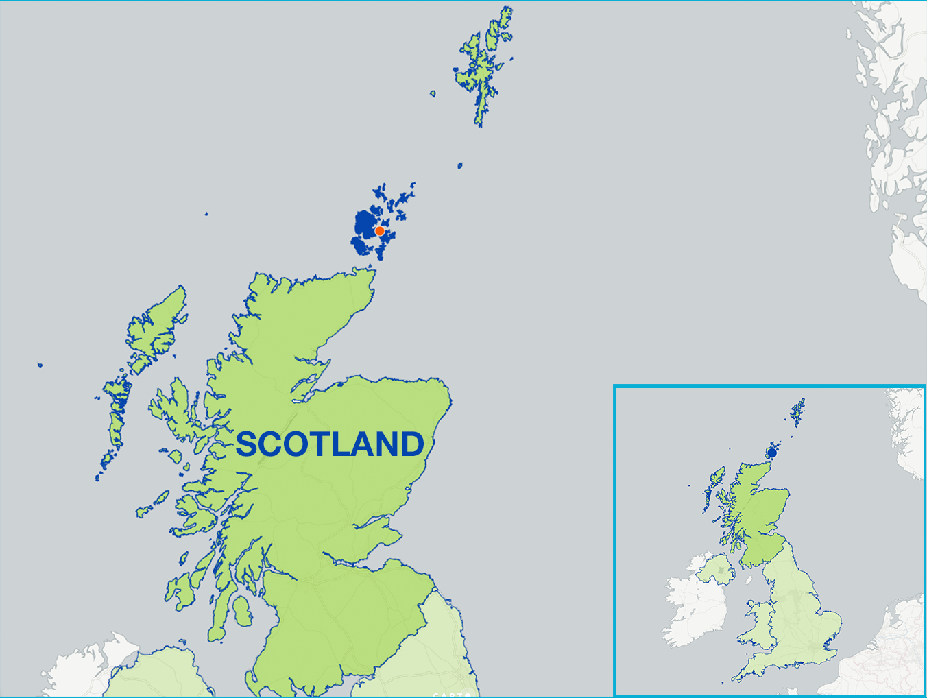 Orkney Islands Map Location