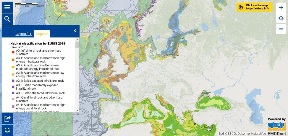 Map of the Week - Habitat classification by EUNIS 2019
