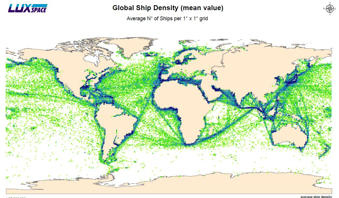Shipping density maps from AIS signals | Maritime Forum on